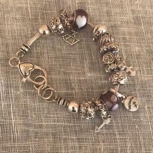 Jewelry - Sagittarius charm silver charm bracelet.
